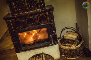 Krb v obývacím pokoji Penzionu Element