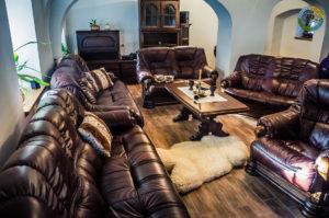 Pohled 2 do obývacího pokoje Penzionu Element
